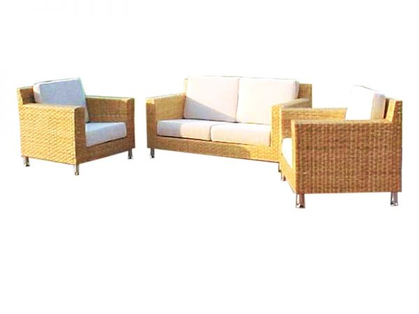 Point Rattan Living Set Natural