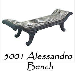 Alessandro Wicker Bench