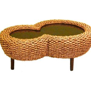 Eight Wicker Table