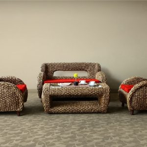 Merry Wicker Living Set