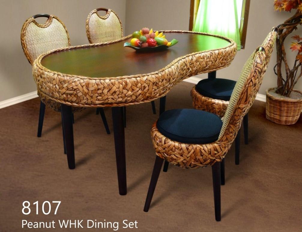 Peanut Wicker Dining Set - Indonesia Rattan   Rattan ...