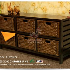 Jane Wicker 6 Drawers