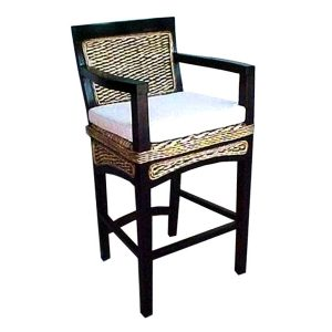 Havana Wicker Arm Barstool