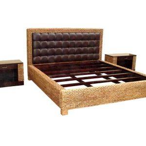 Lava Wicker Bed Set