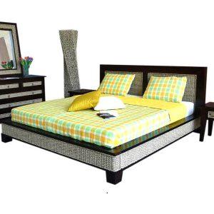 Kaloka Rattan Bed Set