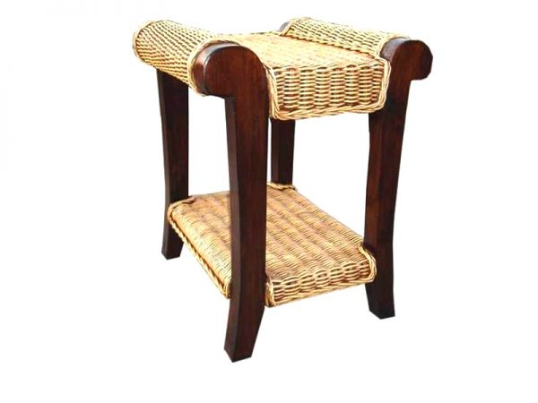 Magdalena Rattan End Table