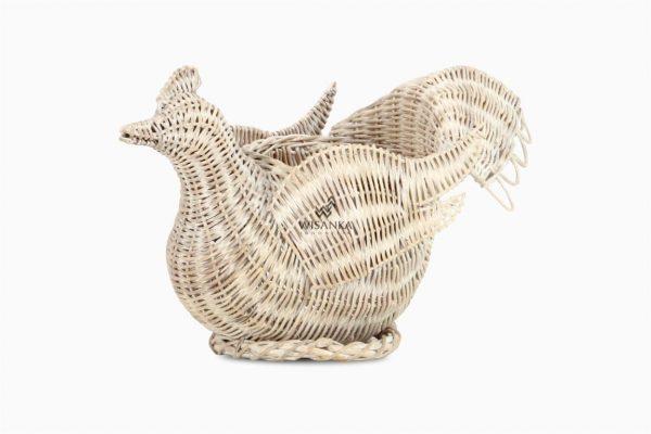Chick Figurine Rattan Basket