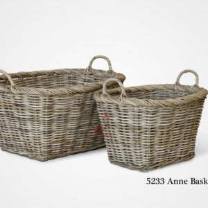 Anne Rattan Basket Set of 2