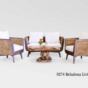 Belladona Wicker Living Set
