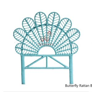 Butterfly Rattan Bed Headboard