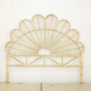 Butterfly Rattan Headboard King Size
