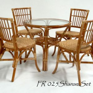 Sharon Rattan Dining Set