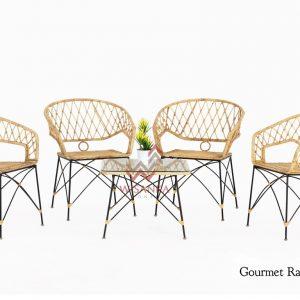 Gourmet Rattan Terrace Set