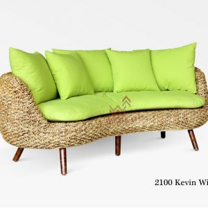 Kevin Curve Wicker Sofa