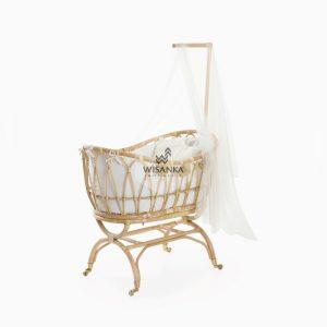 Lomy Rattan Baby Crib