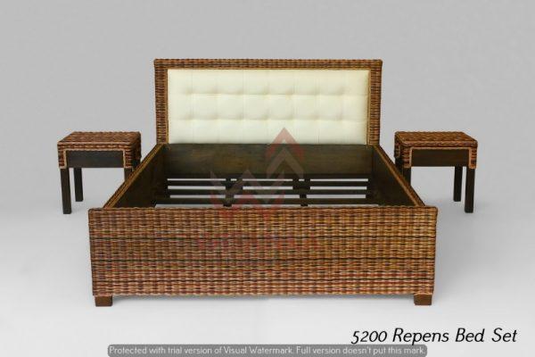 Repens Rattan Bed Set