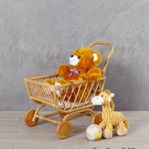 Rossy Rattan Doll Pram