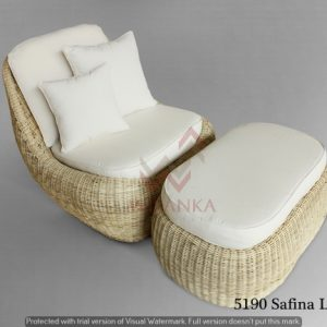 Safina Wicker Lazy Chair