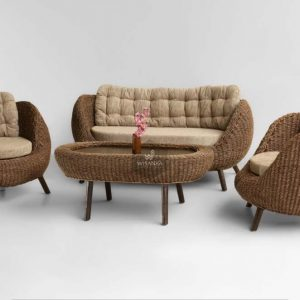 Pearl Wicker Living Room Set