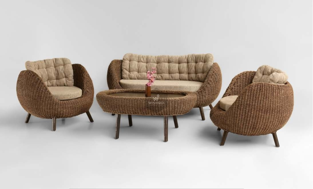 Image of: Pearl Wicker Living Room Set Indonesia Rattan Rattan Furniture Wholesale Wicker Furniture