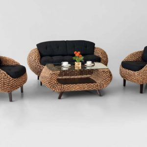 Crab Wicker Rattan Living Set