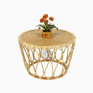 Tea Rattan Round Table