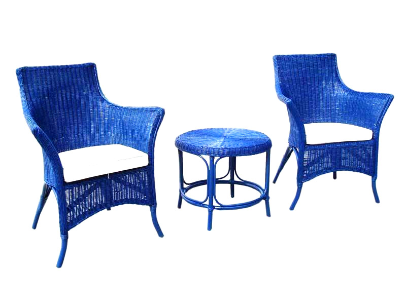 Champagne Rattan Living Set