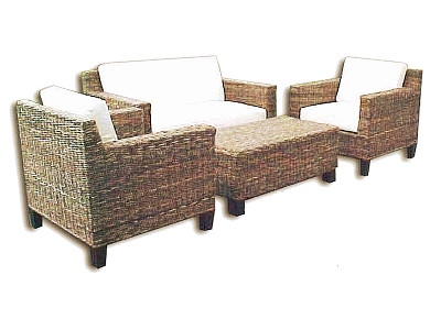 Erlina Wicker Living Set