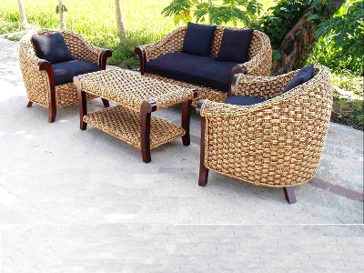 Magdalena Living Set Seagrass Woven