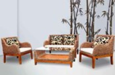 Amago Wicker Living Set
