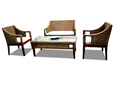 Michu Rattan Living Set
