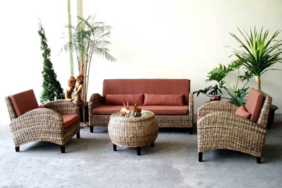 Laguna Rattan Living Set
