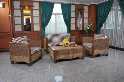 Afgan Wicker Living Set
