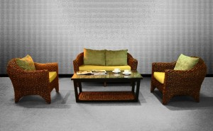 Marvella Wicker Living Set