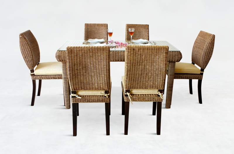 Bean Rattan Dining Set