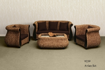 Avian Wicker Living Set