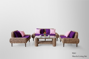 Manila Wicker Living Set