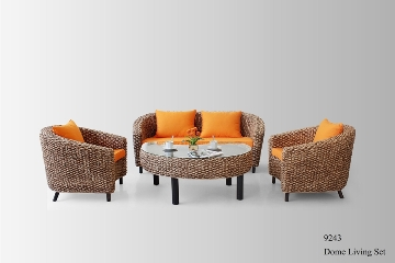 Dome Wicker Living Set