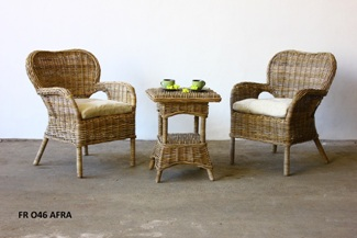 Afra Rattan Terrace Set