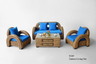 Zunica Wicker Living Set