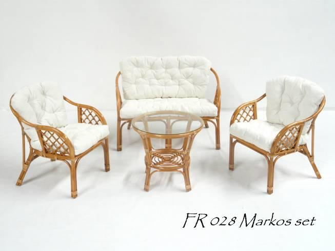 Markos Rattan Living Set