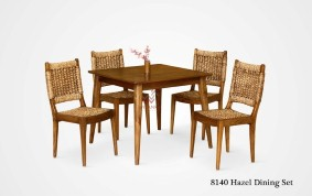 Hazel Wicker Dining Set