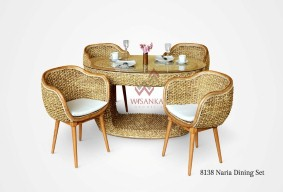 Naria Wicker Dining Set