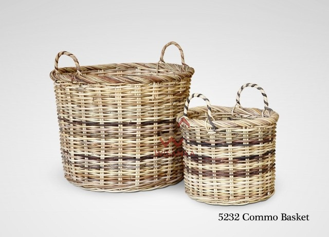 Commo Rattan Basket Set Of 2