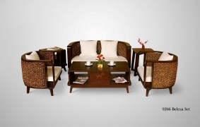 Belleza Wicker Living Set