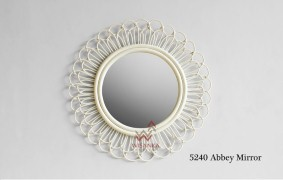 Abbey Rattan Mirror