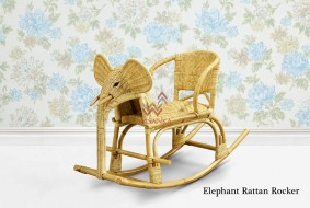 Elephant Wicker Rocker