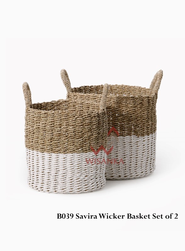 Savira Wicker Basket Set Of 2