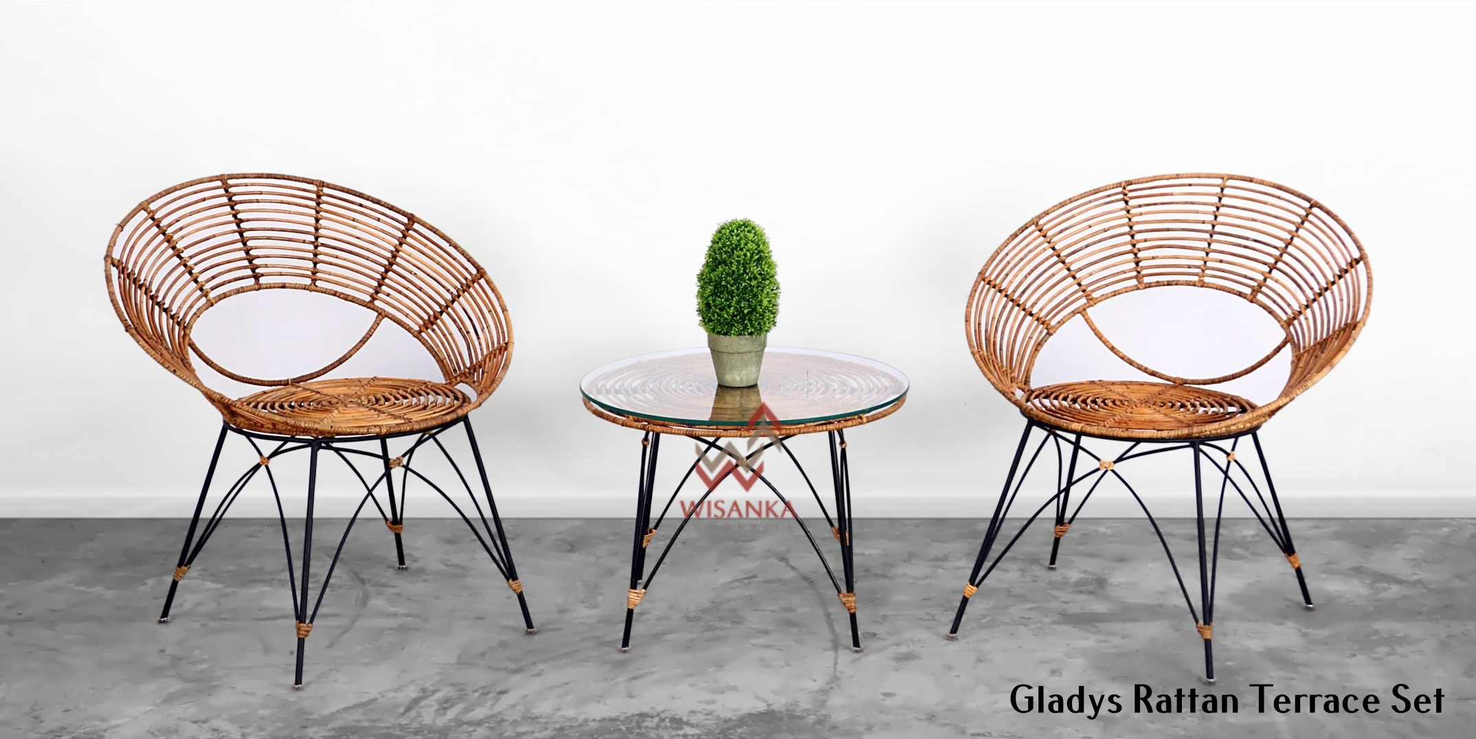 Gladys Rattan Terrace Set