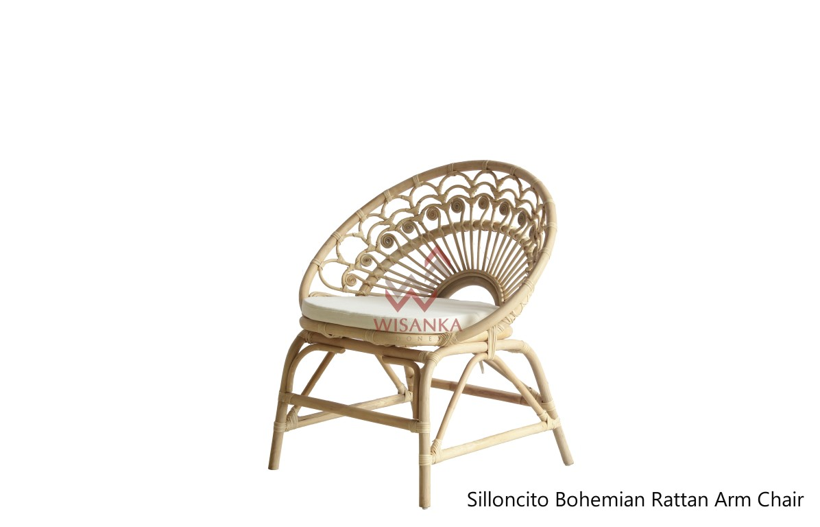 Silloncito Bohemian Rattan Arm Chair